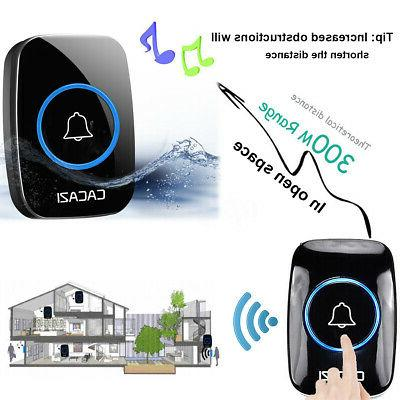 Home Wireless Doorbell Remote 300M Distance Waterproof transmitter receiver