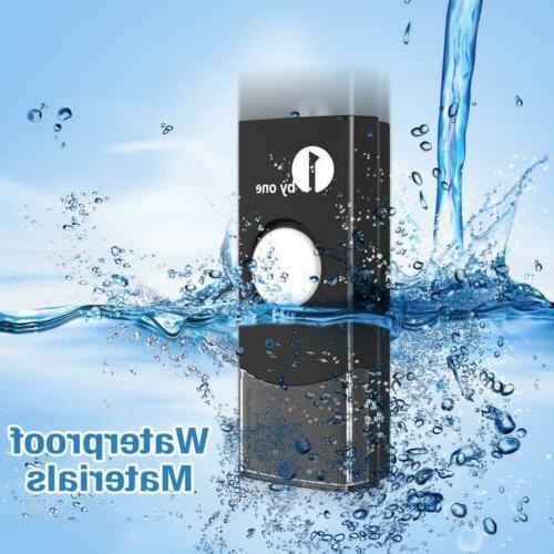 1byone wireless chime range 36 WATERPROOF