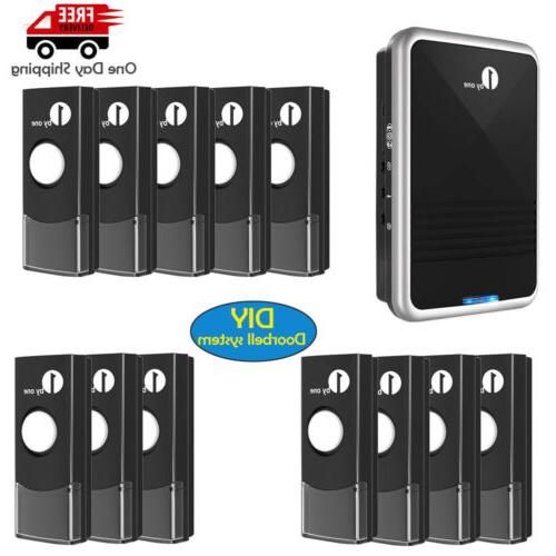home wireless plug in doorbell security chime