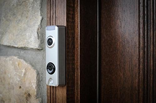 Honeywell SkyBell Slim 1080p Wi-Fi Video Doorbell Silver Finish