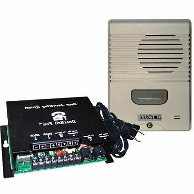 Doorbell Fon Intercom Kit with Door Station, Ivory