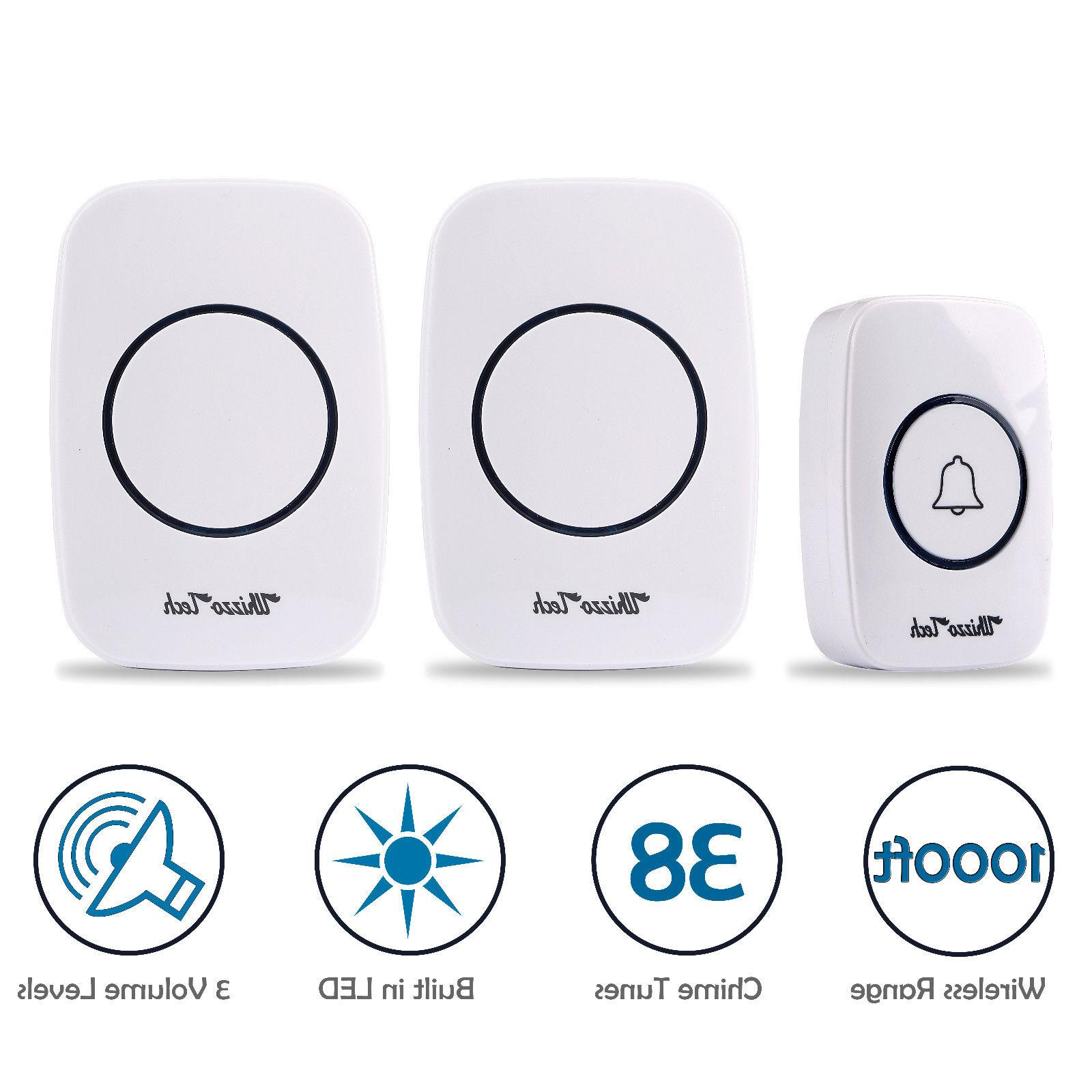 led 3 volume 1000ft wireless doorbell 38