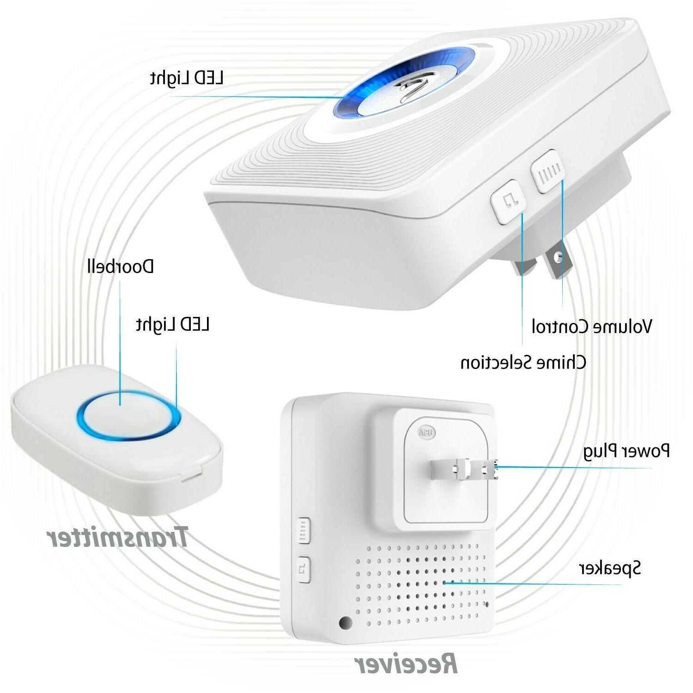 1000FT Resistant Doorbell Plug Transmitter Remote