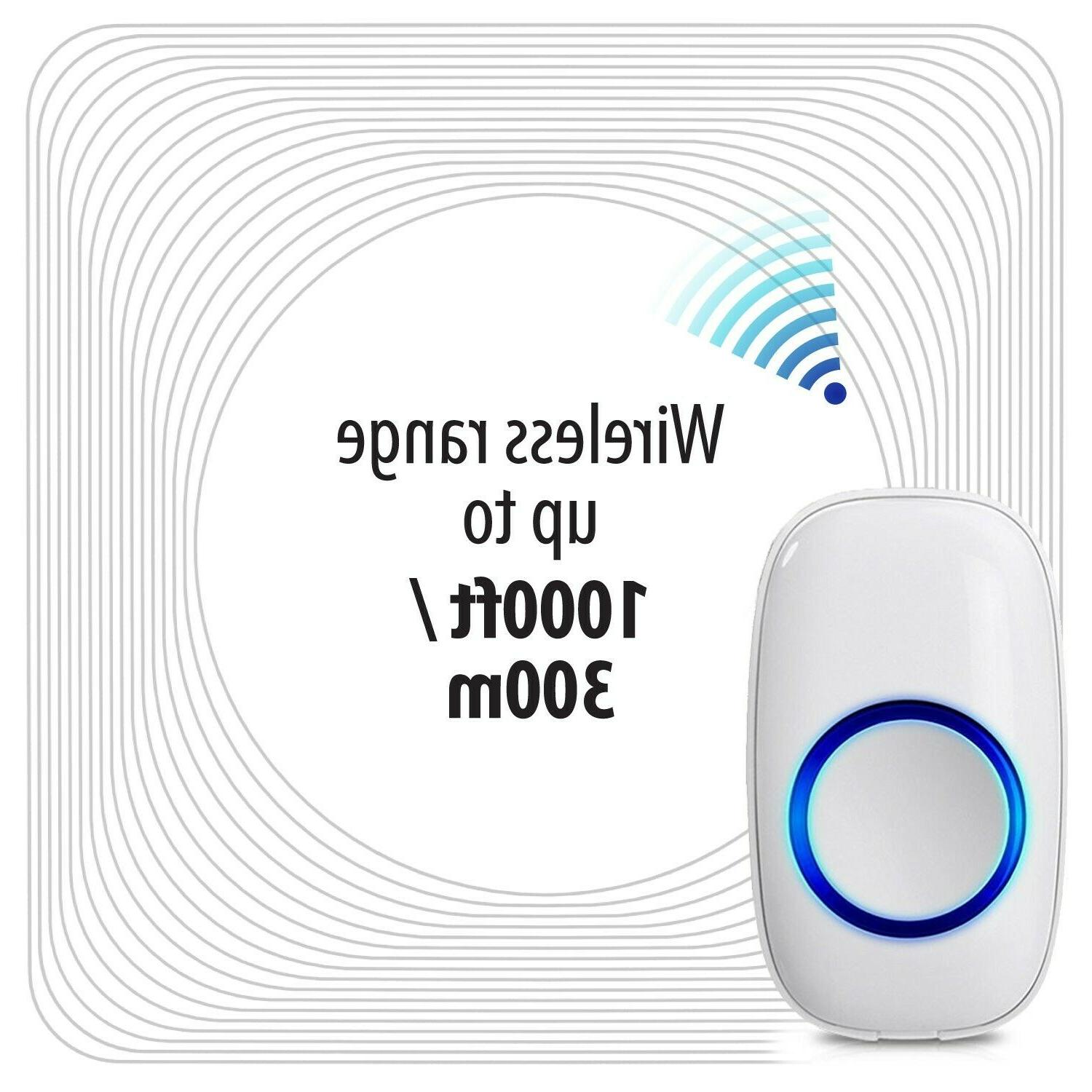 1000FT Water Resistant Doorbell Chime Transmitter Remote