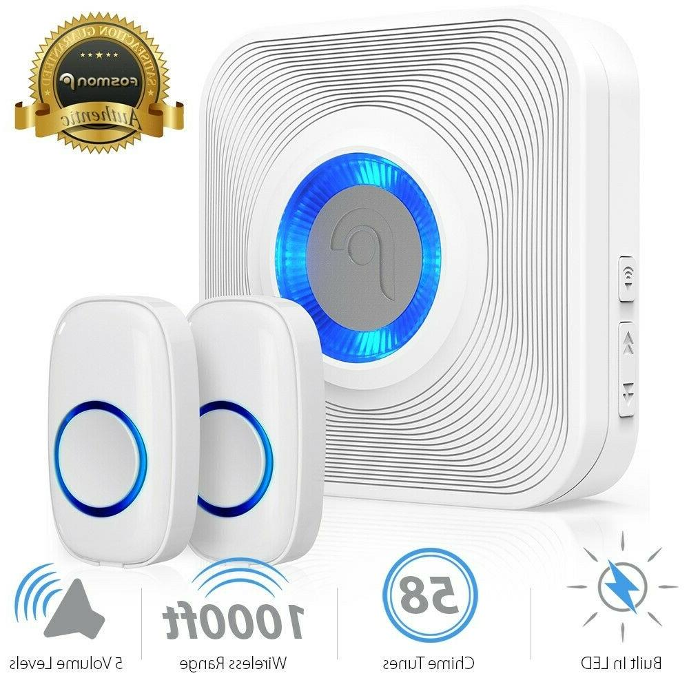 led 4 volume 1000ft wireless doorbell 52