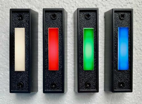lighted black doorbell button replacement wired led