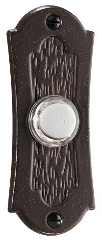 Lighted Flat Pushbutton, Oil Rubbed Bronze