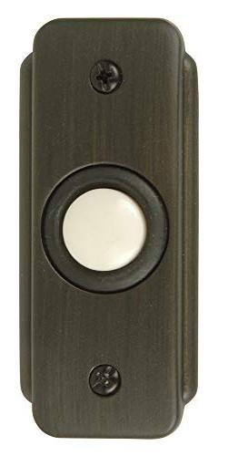 Craftmade Lighting BR2-BZ Recessed Door Bell Push Button, Br