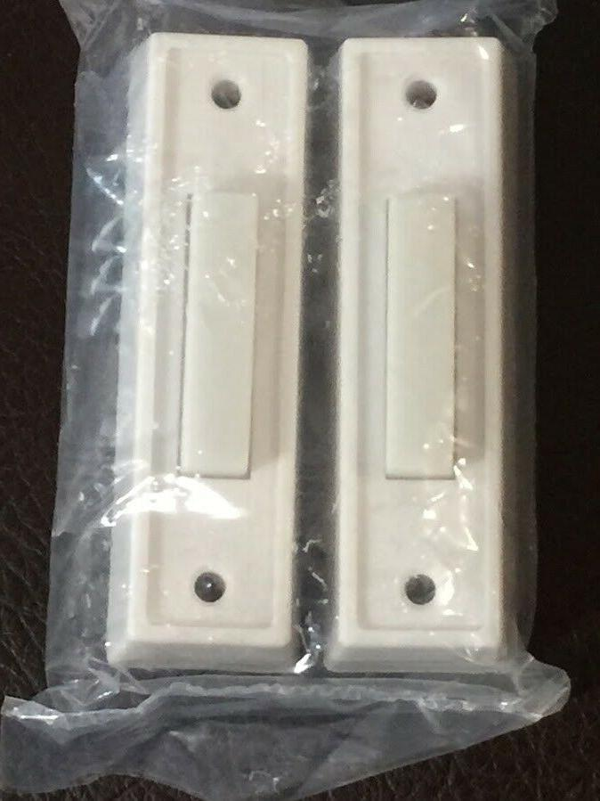 lot of two wired push buttons whites