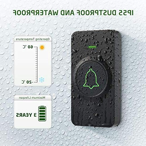 Wireless Mini Waterpoof Doorbell Operating at 1000 with 52 Volume Flash