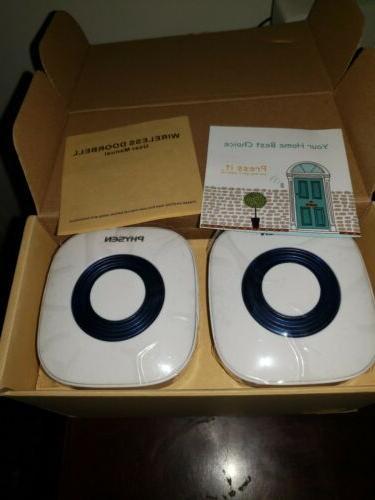model cw waterproof wireless doorbell kit white