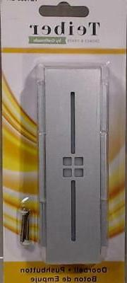 New Craftmade LED Illuminated Doorbell Silver Tiered Mission