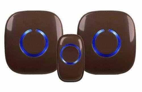 NEW Model Wireless Doorbell 1 Button, 2 Receivers