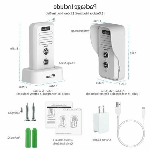 Wireless Door System Rechargeable Home 1/2 Mile