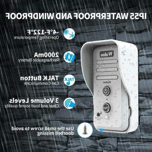 Wireless Intercom Rechargeable Doorbell for Home 1/2 Range