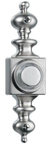 NuTone PB4LSN Wired Lighted Door Chime Push Button, Satin Ni