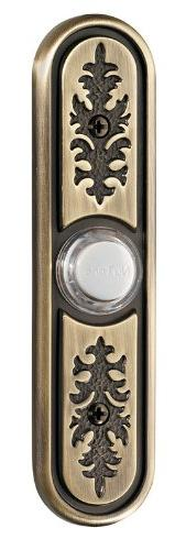 NuTone PB64LAB Wired Lighted Door Chime Push Button, Antique