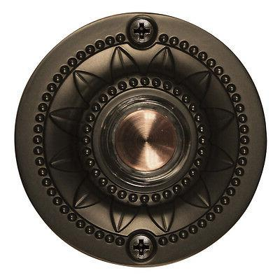 Oil Rubbed Bronze Wired Home Metal Doorbell Button Door Bell