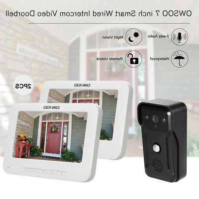 720p 7 wired video door phone visual