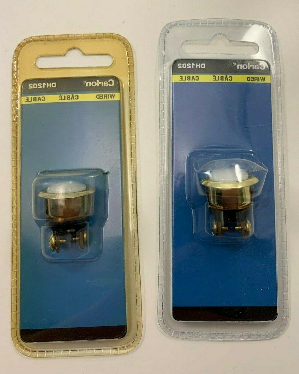 pair 2 dh1202 lighted doorbell buttons original