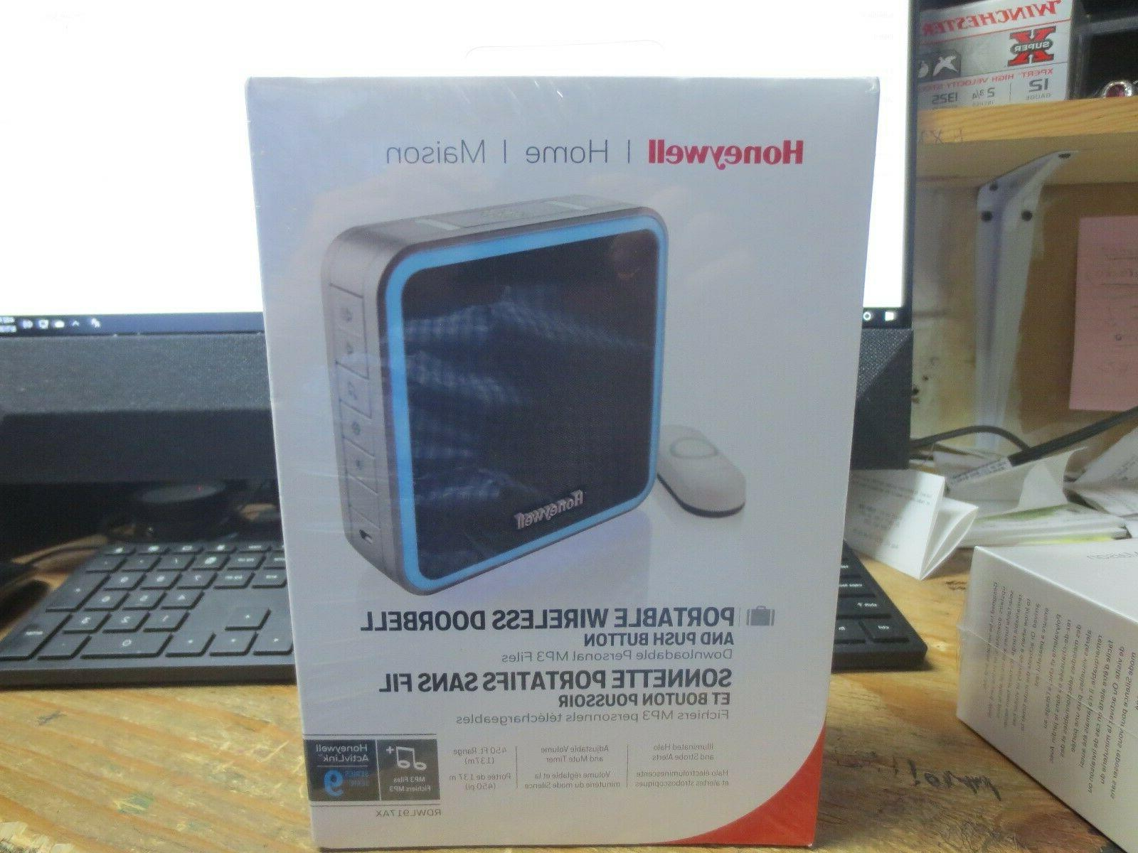 portable wireless doorbell and push button rdwl917ax