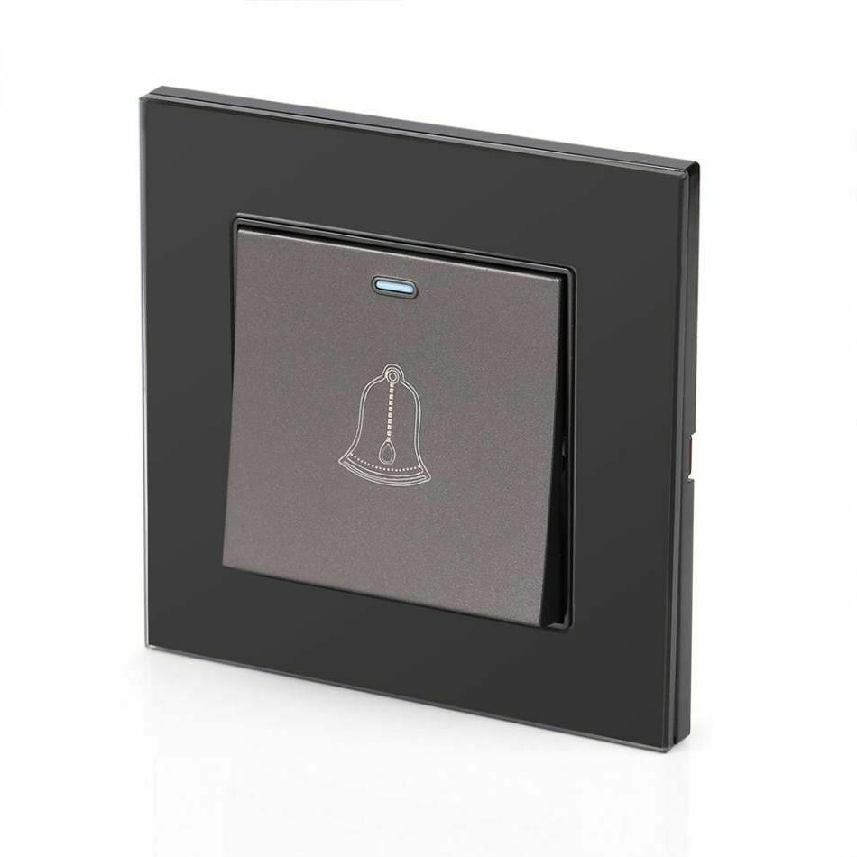 Push Doorbell Glass Horn Home Hotel Device Tool