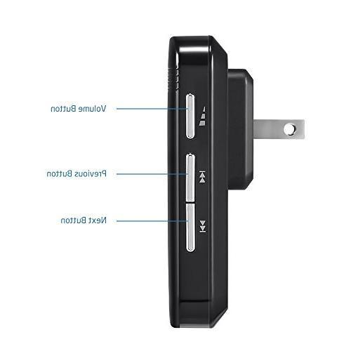 Black AVANTEK Mini Doorbell Add-on Plug-in Receiver