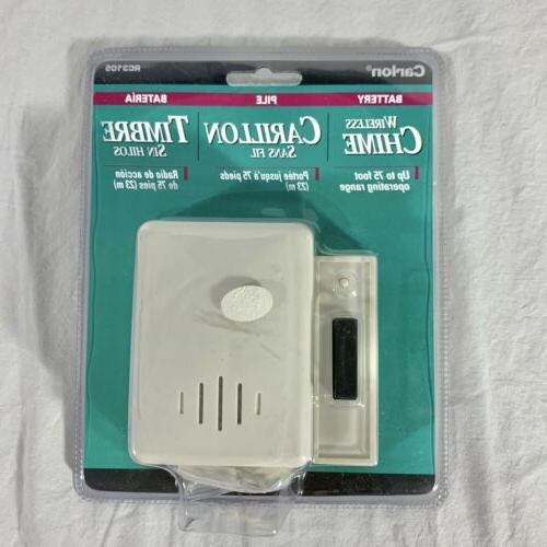 Thomas & Betts Carlon RC3105 Wireless Battery Door Bell Chim