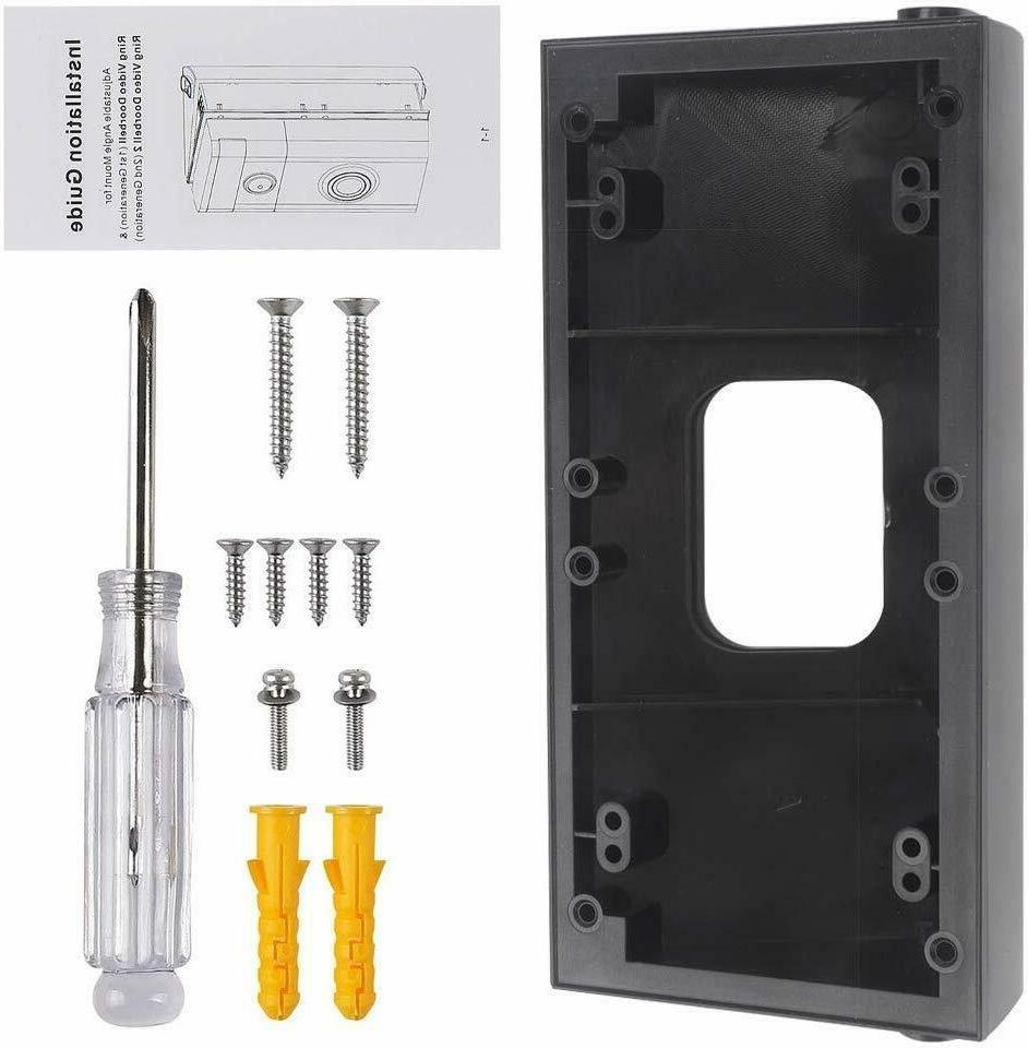 Doorbell Adapter Angle Wedge Black 2