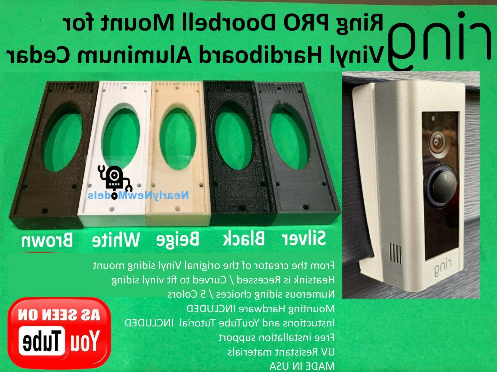 ring pro doorbell mount for vinyl hardiboard