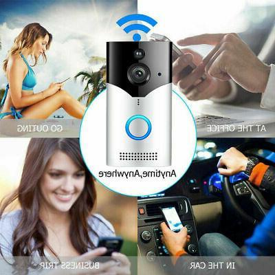 Ring Video Doorbell Wi-Fi Enabled HD Camera Alexa Satin Nickel New