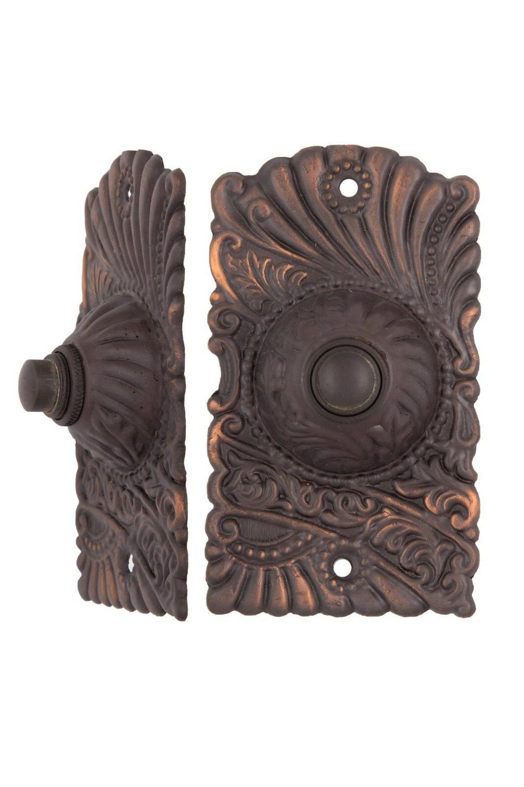 roanoke push button electric doorbell antique copper
