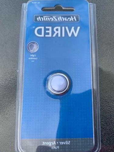 round doorbell push button silver bezel white