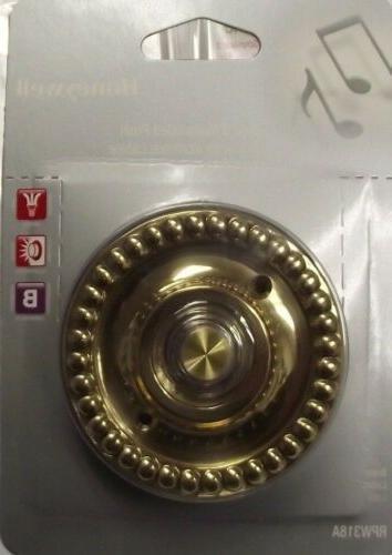 Honeywell RPW318A  Wired Illuminated Brass Door Bell Push Bu