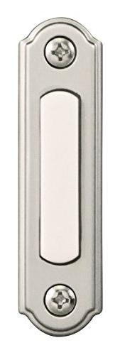 Heathco SL-256-00 Satin Nickel & White Rectangular Wired Pus