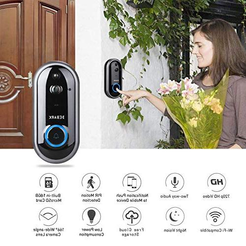 DEBARK Video Wireless Home WiFi Free Cloud Service, Batteries, 2-Way Vision, APP Control for iOS Android