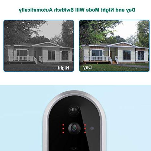 DEBARK Video Wireless Camera Chime, Free Cloud 2 Batteries, 2-Way Vision, APP Control Android Google