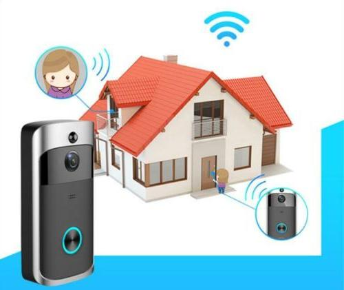 Smart Video Wireless Door Bell Camera Pager Chime Kit