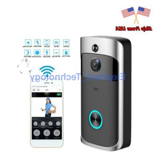 smart video wireless wifi door bell ir