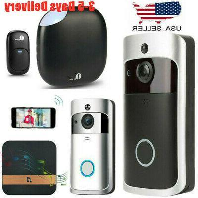smart wifi doorbell camera video wireless security