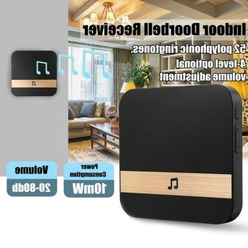 Smart Doorbell Chime Ding-Dong Bell Receiver US