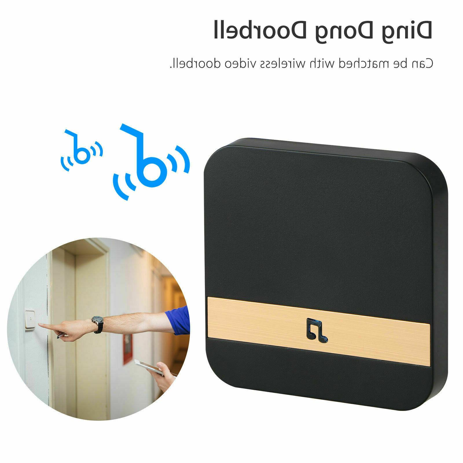 Wireless WiFi Doorbell Chime Ding-Dong Visual Door Bell Smar