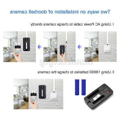 Smart Wireless WiFi Doorbell Video Phone Bell Intercom Home