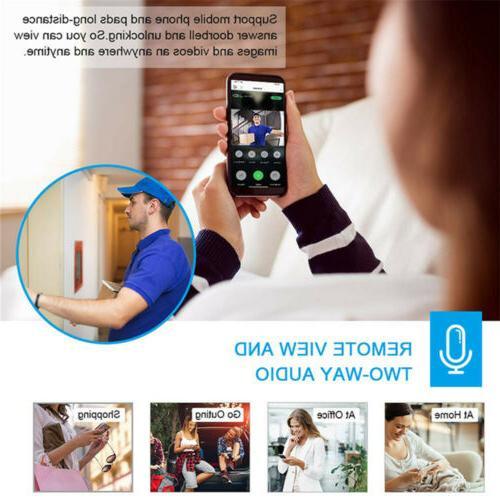Smart Wireless Ring Doorbell Camera Bell
