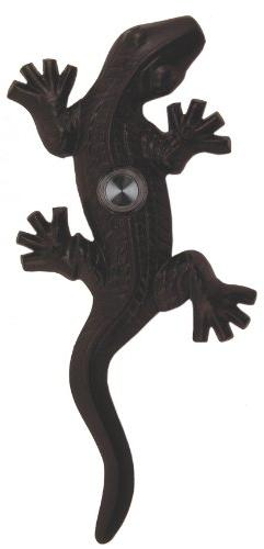 Waterwood Brass Large Lizard/Gecko Doorbell in Black