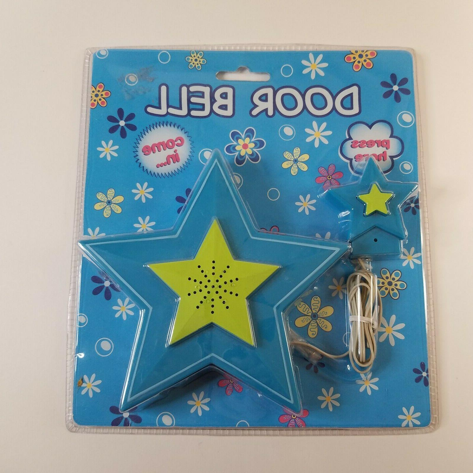 star shaped blue toy door bell child