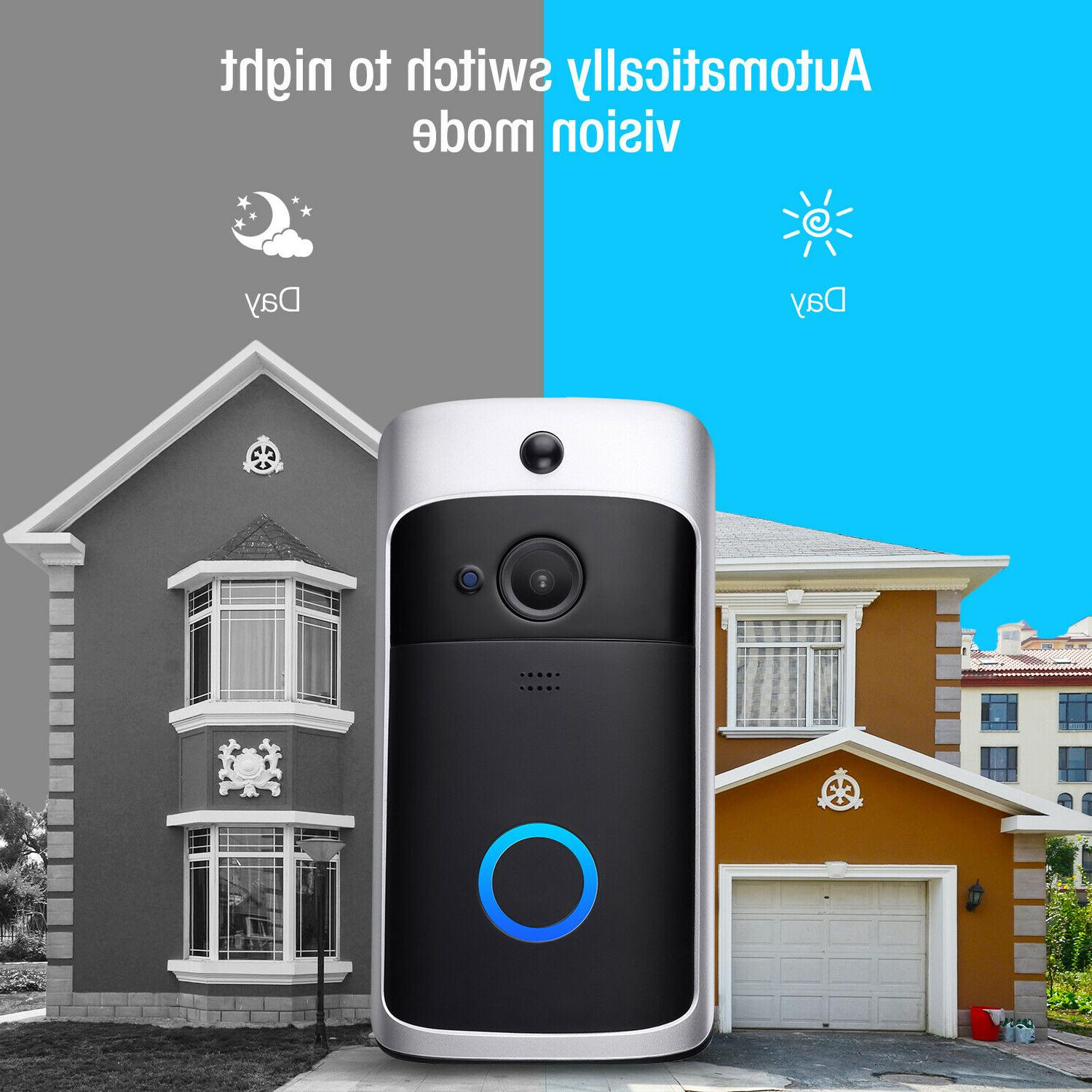 Two-Way Smart WiFi Wireless Doorbell Video Talk PIR Camera