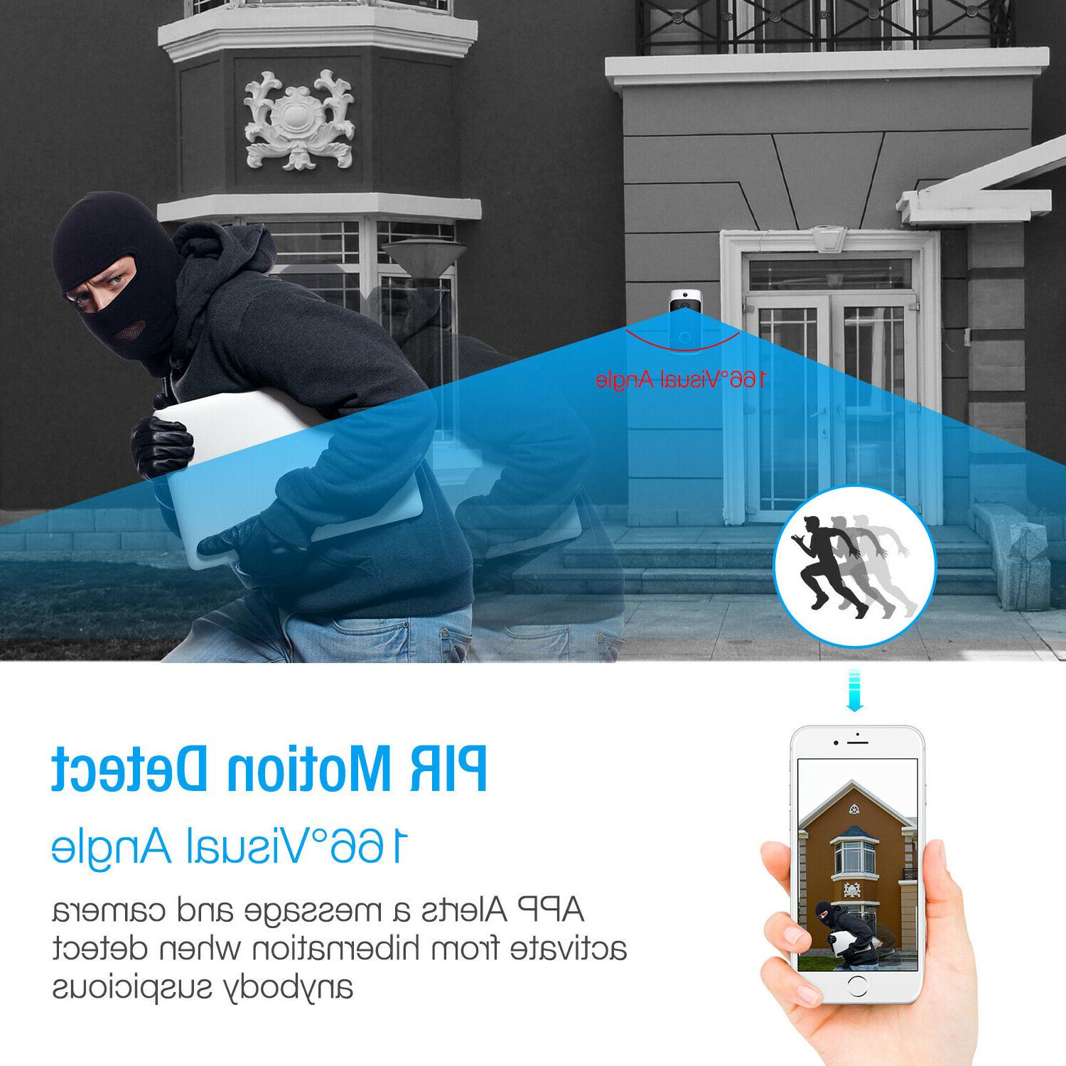 Two-Way Smart Doorbell Video PIR Camera