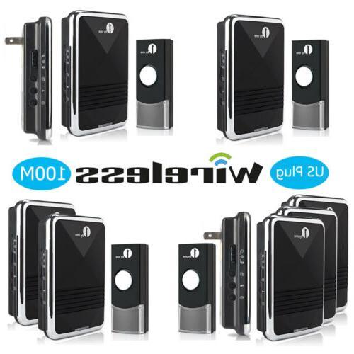 wireless doorbell button chime waterproof digital receiver