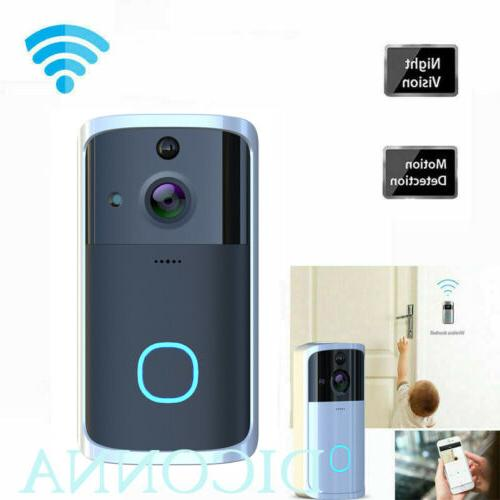 US WiFi Door Bell IR Visual Camera Record Security System